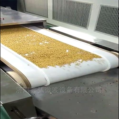 隧道式 大豆烘干熟化杀菌微波设备