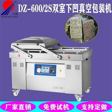 DZ-600/2S不锈钢下凹双室真空包装机