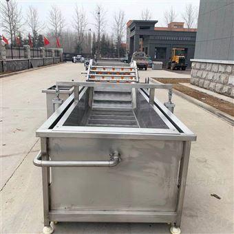 QD-4000黄花菜清洗漂烫冷却烘干加工流水线