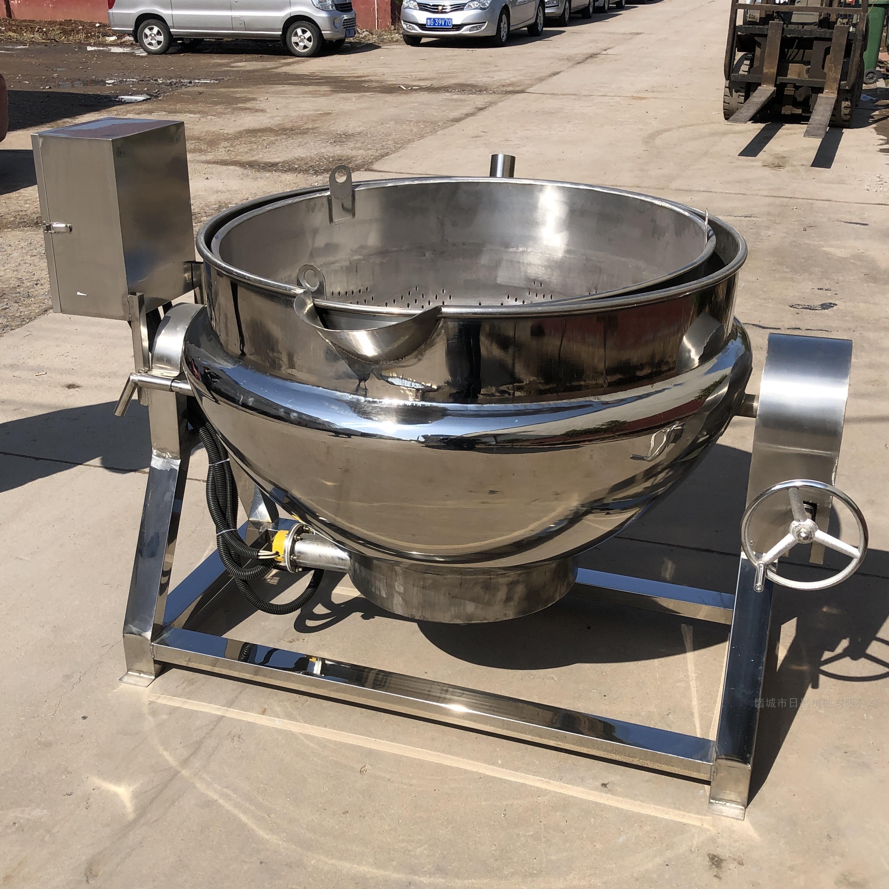 蔬菜酱刮底搅拌锅 可倾式夹层锅