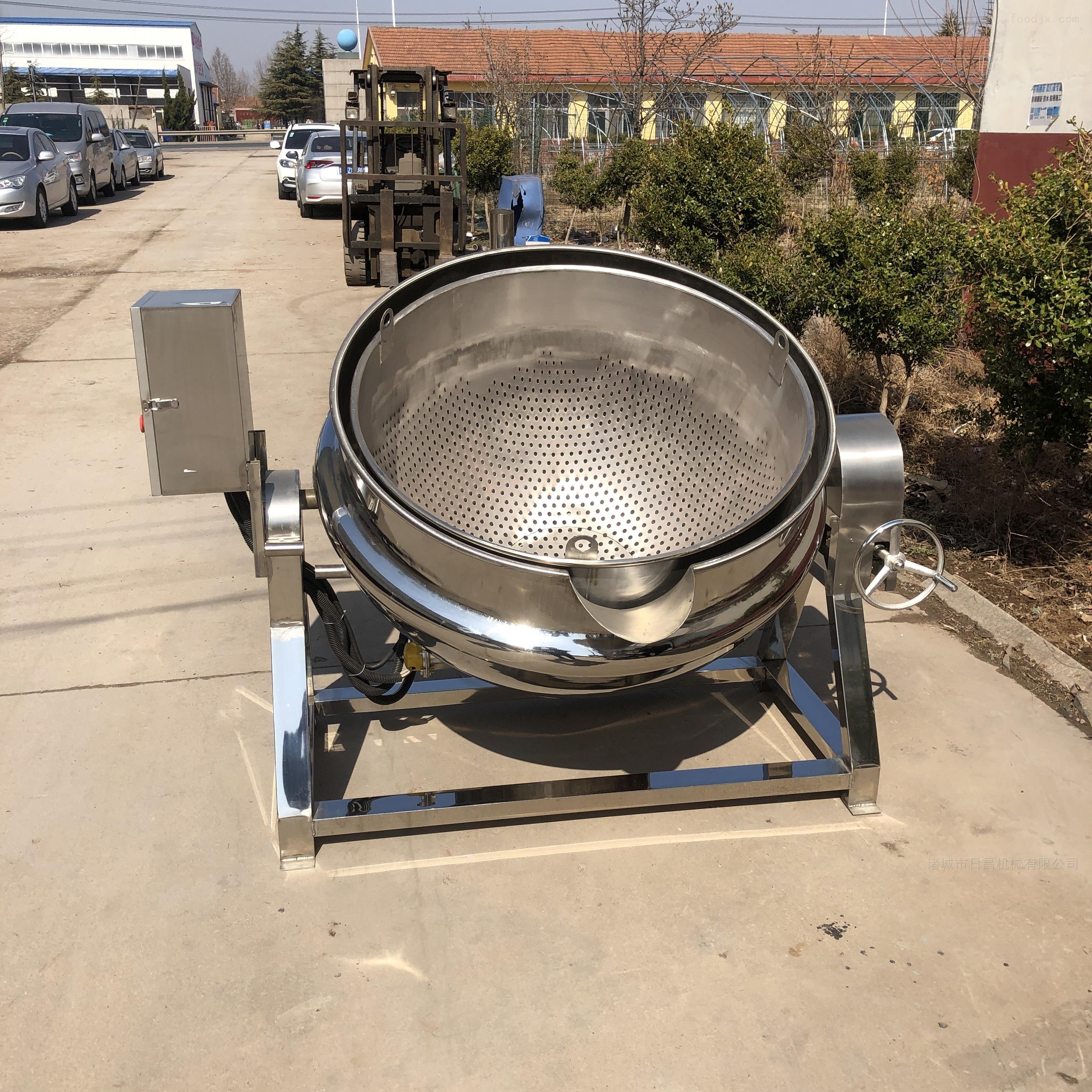 不锈钢蒸煮锅 半自动卤煮锅 食品蒸煮夹层锅