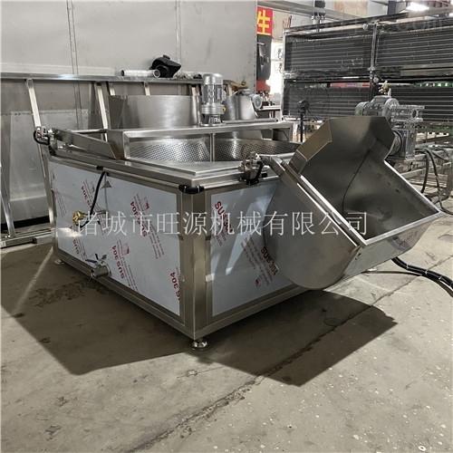 油炸芸豆设备 移动式茄子油水混合油炸机