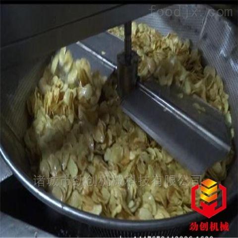 西藏牛肉干用自动进出料油炸机劲创直销