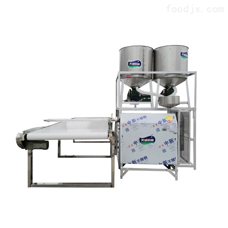 大型紅薯粉條機試機生產調試