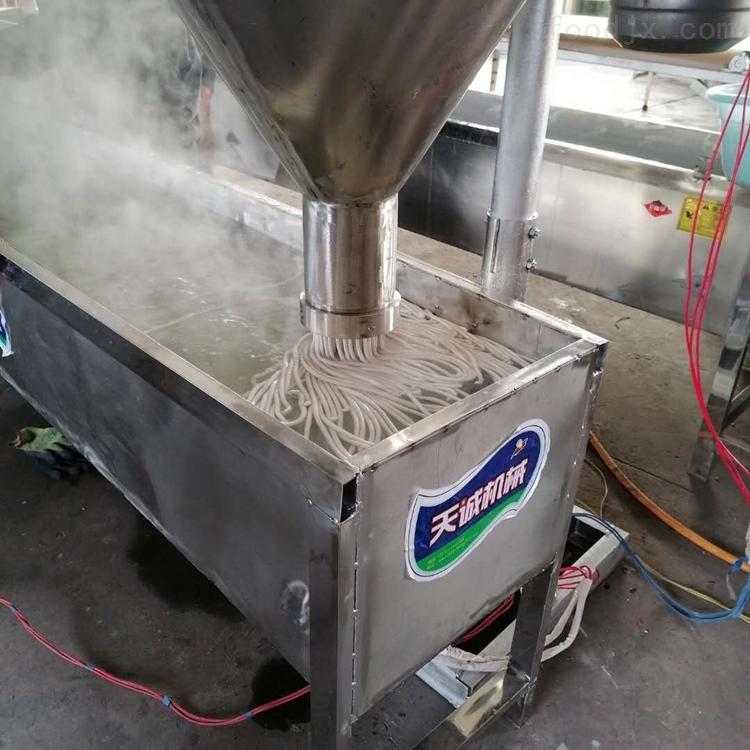 土豆粉机试机生产调试成功