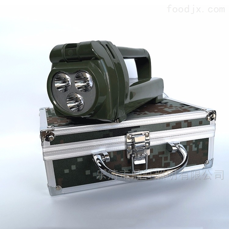 9W手持搜索灯班用强光探照灯手摇充电军之光