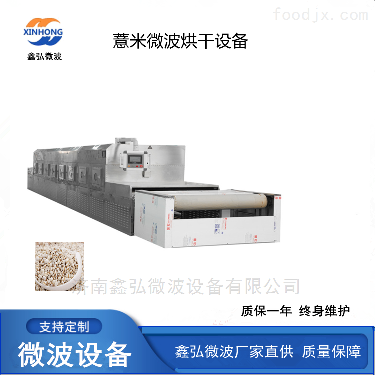 薏米微波烘焙设备 隧道式低温杂粮熟化机