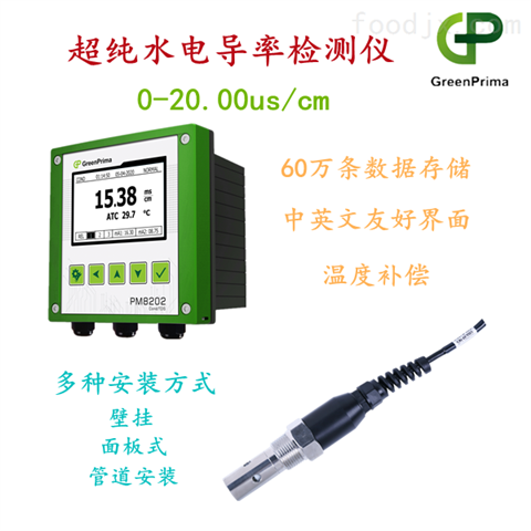 超纯水电导率检测仪GreenPrima