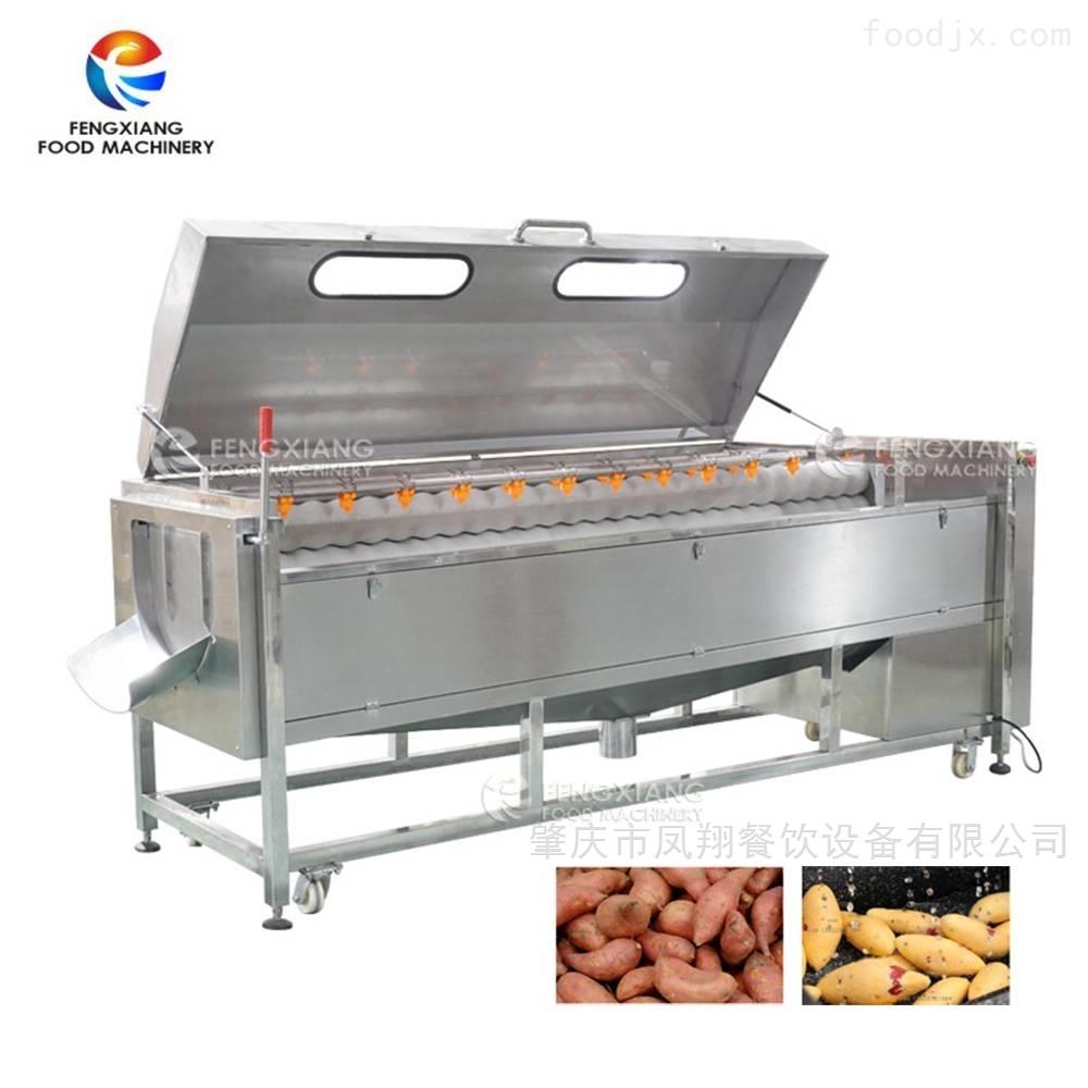 凤翔 砂辊毛刷去皮机 木薯土豆去皮清洗机