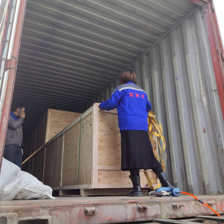 出口品质 值得信赖 拉伸膜真空包装机发往海外